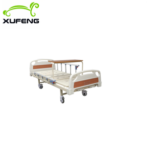 Best selling two manual crank care bed\medical bed\cheap hospital bed