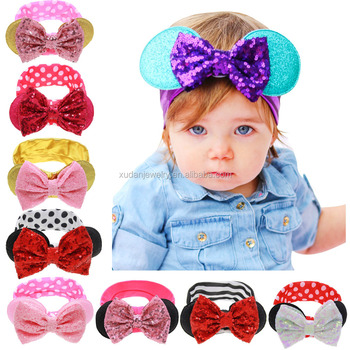 Girls Bandana turban headband Children headbands Baby cotton bow headwraps  Hair accessories bowknot hair bands d2f059c9f2b
