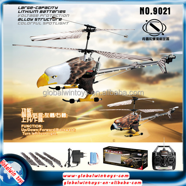 New double frequency 3ch rc flying eagle remote control animal helicopter toys