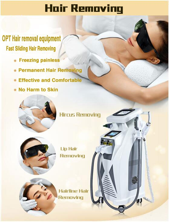 ipl shr hair removal machine ipl shr elight -rf -nd yag laser beauty machine