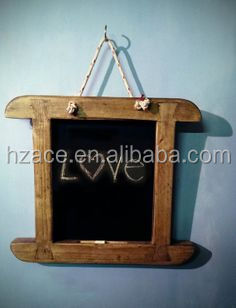 wooden hanger chalkboard with rope