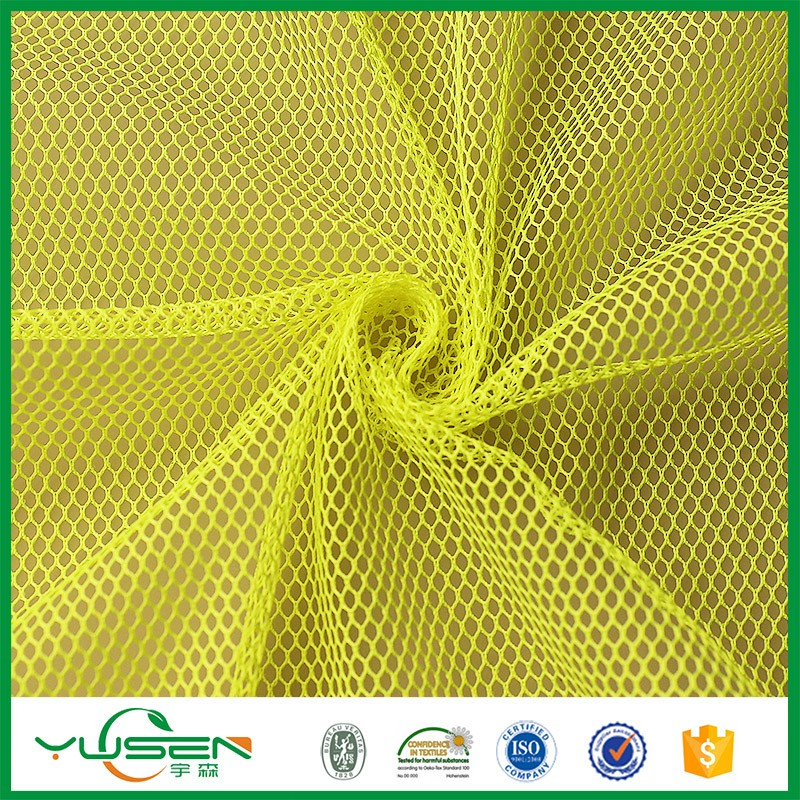 tongxiang manufacturer hexagonal polyester mesh fabric for NBA jersey