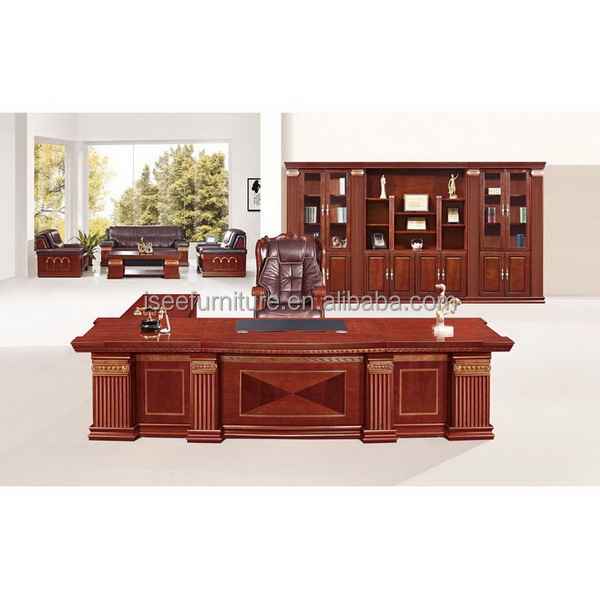 Wood Office Furniture Product ~ Antique solid wood executive office furniture for boss