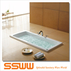 Simple Built-in pure air massage bathtub in low price