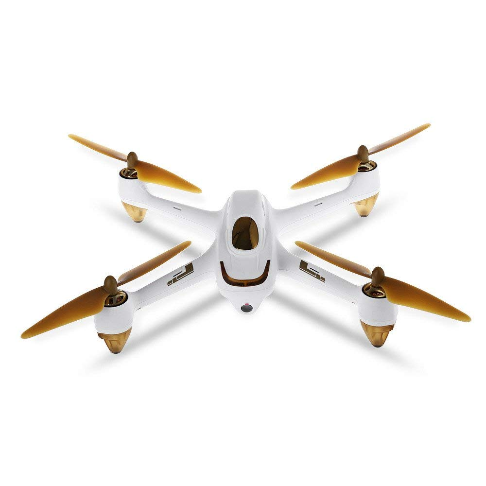 Hubsan 1080P HD Camera Drone - H501S X4 10CH 5.8G FPV Brushless GPS RC Quadcopter RTF Professional for Kids Adults Birthday Christmas New Year Gifts,White Black,Gbell (White)