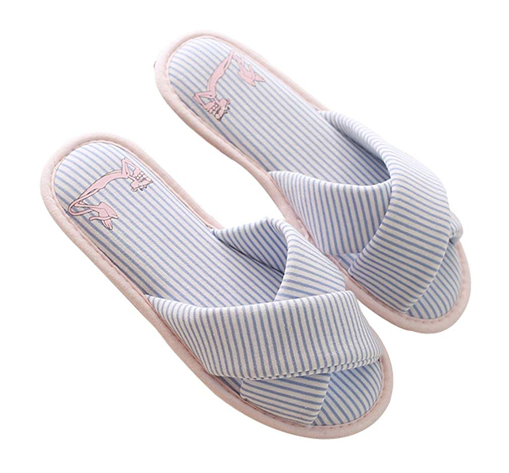 83e9a668ccd Get Quotations · Cattior Womens House Bedroom Spa Slippers Slip on Cute  Open Toe Slipper