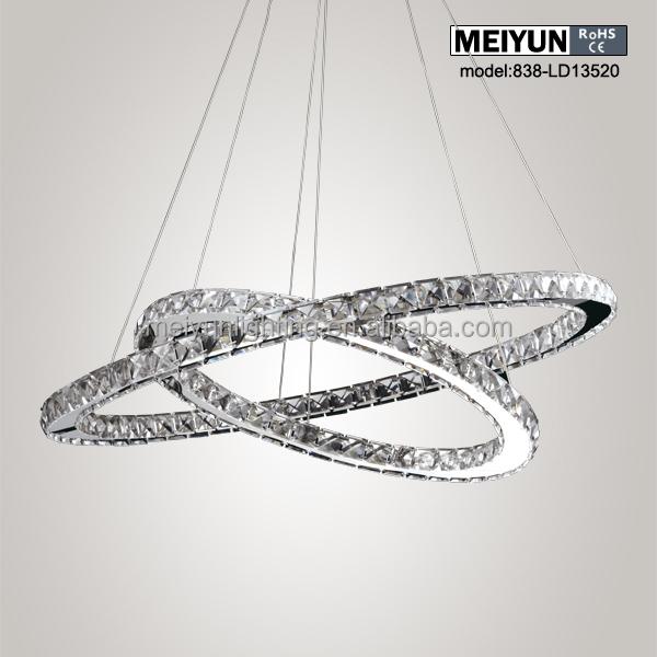 Modern Crystal Pendant Lamp Led Ring