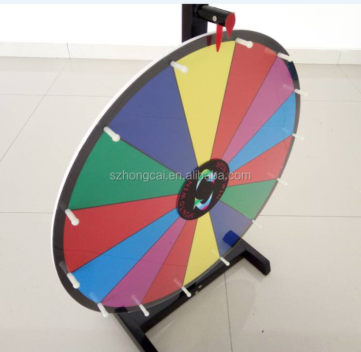 Tabletop event Prize wheel with wood feet