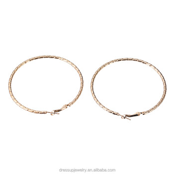 Cheap Jewelry South Africa Style Gold Plating Thin Shiny Hoop