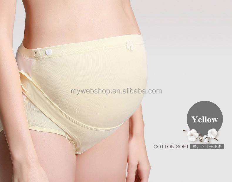 High Waist Sweat Adjustable Pregnant Underwear Panty Cotton Magic Sticks Maternity Belts Panty Can Wear a Whole Pregnancy