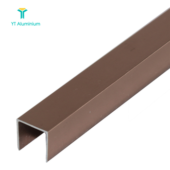 Satin Nickel Brushed Aluminium Laminate Flooring Trims Square Edging