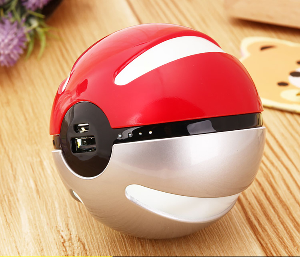 Hot Sell waterproof power bank pokemon go with LED light