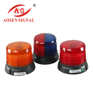 Super bright 18w available colors blue/ yellow/ red/ white 12v beacon light with magnet and cigar plug