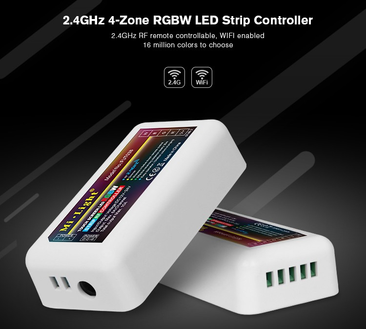 Rf Wireless Led Strip Dimmer/controller 5050 Rgb/rgbw Color ...