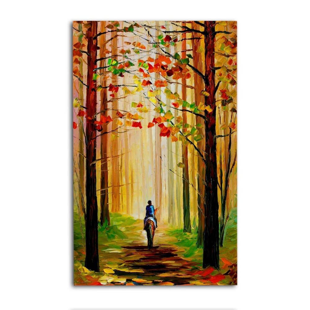 Rustic Wood Wall Art Vintage Scenery Painting For Home Decoration ...