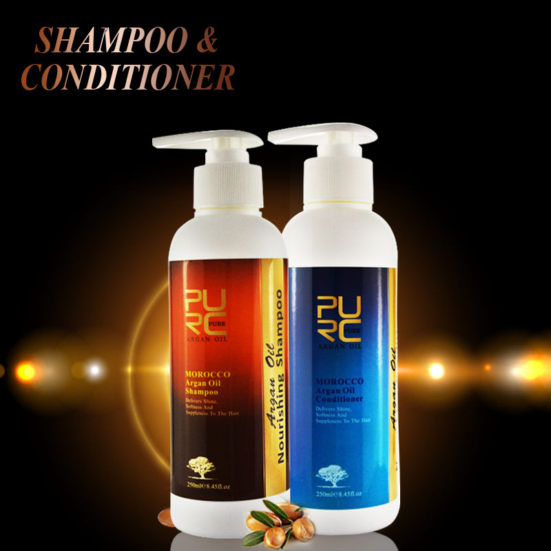 GMPC certified high quality popular organic shampoo and conditioner have argan oil ingredient