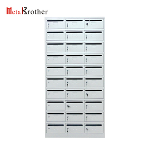 Office Furniture Outdoor Mailbox Antique Metal Steel Post Service Letter Mail Box For School/Apartment Building US Mailbox