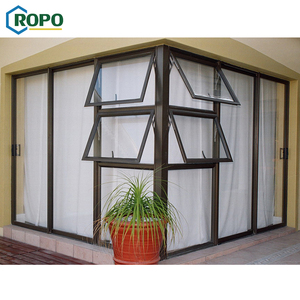 AWA And WERS Certified Powder Coating Aluminum Insulation Awning Window With Thermal Break Material