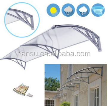 40'' x 80'' Outdoor Front Door Window Awning Door Canopy Polycarbonate Cover