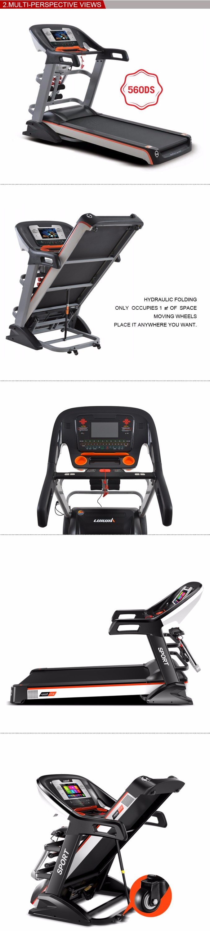 Fitness Exercise Equipment Curve Commercial Treadmill Ac