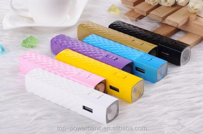 alibaba best selling products Fashionable new arrival rechargeable mascara power bank 2600mah