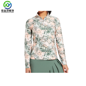 New fashion design custom sublimated 190gsm light weight ladies golf sweatshirts pullover