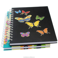 A4 A5 Fashion coil/High quality spring notebook/Hardcover exercise books Custom internal pages and logo