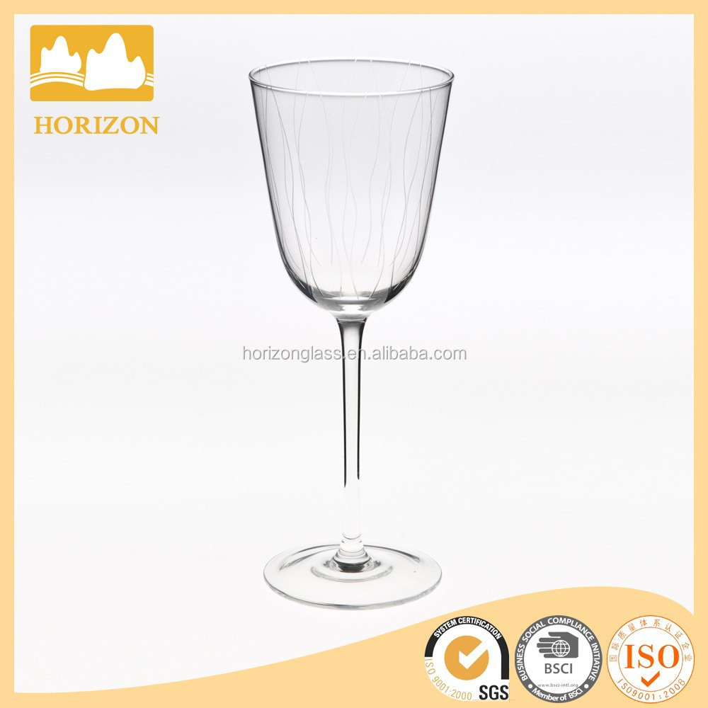 Red wine glass silver goblet