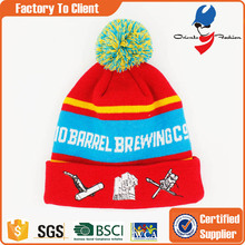 wholesale beanies hat with logo embroidery