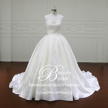 Xf806 Crystal Gothic Corset Wedding Dresses Cascading Ruffle Satin ...