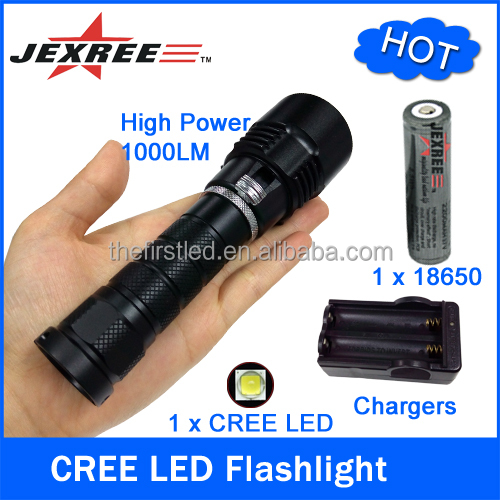 JEXREE Factory Led rechargeable high powerful battery Scuba Diving Torch