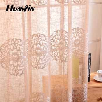 TangiersTangiers Embroidered Faux Linen Burlap Curtain Panel And Valance By Softlin