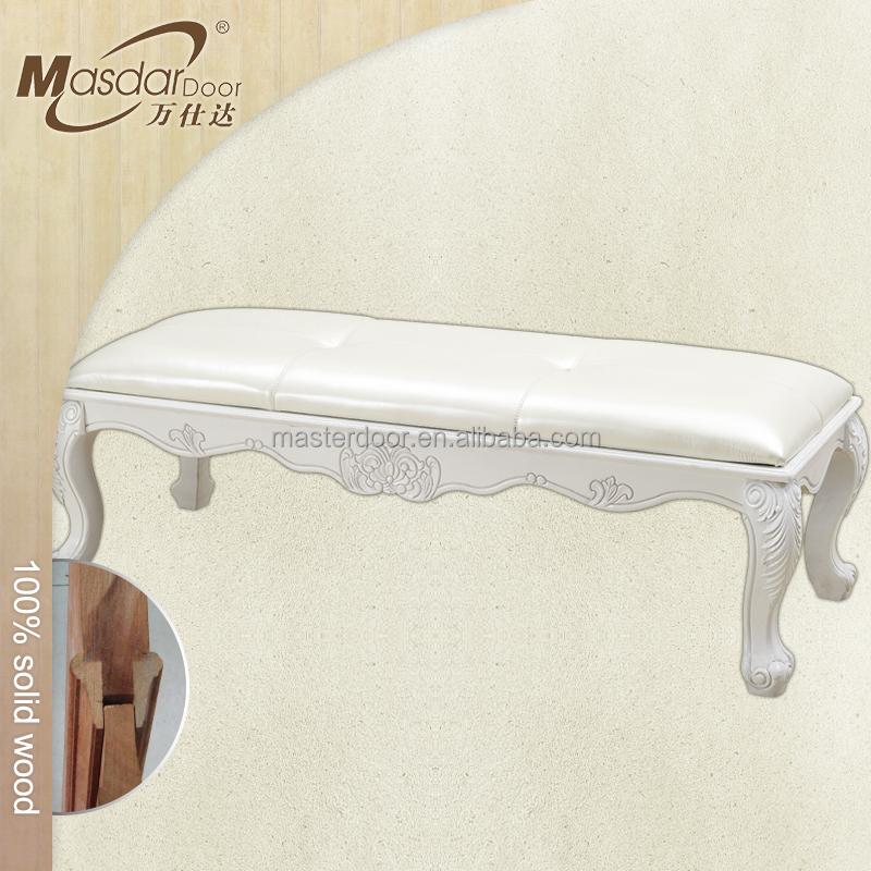 luxe slaapkamer meubels verf wit hout bed bankje prijs andere