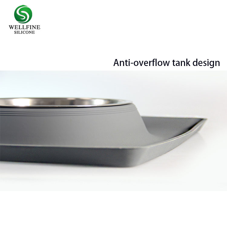 Silicone Dog Bowl, Removable Stainless Steel Dog Bowl