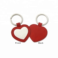 Wholesale Heart Shape Custom Leather Keychain
