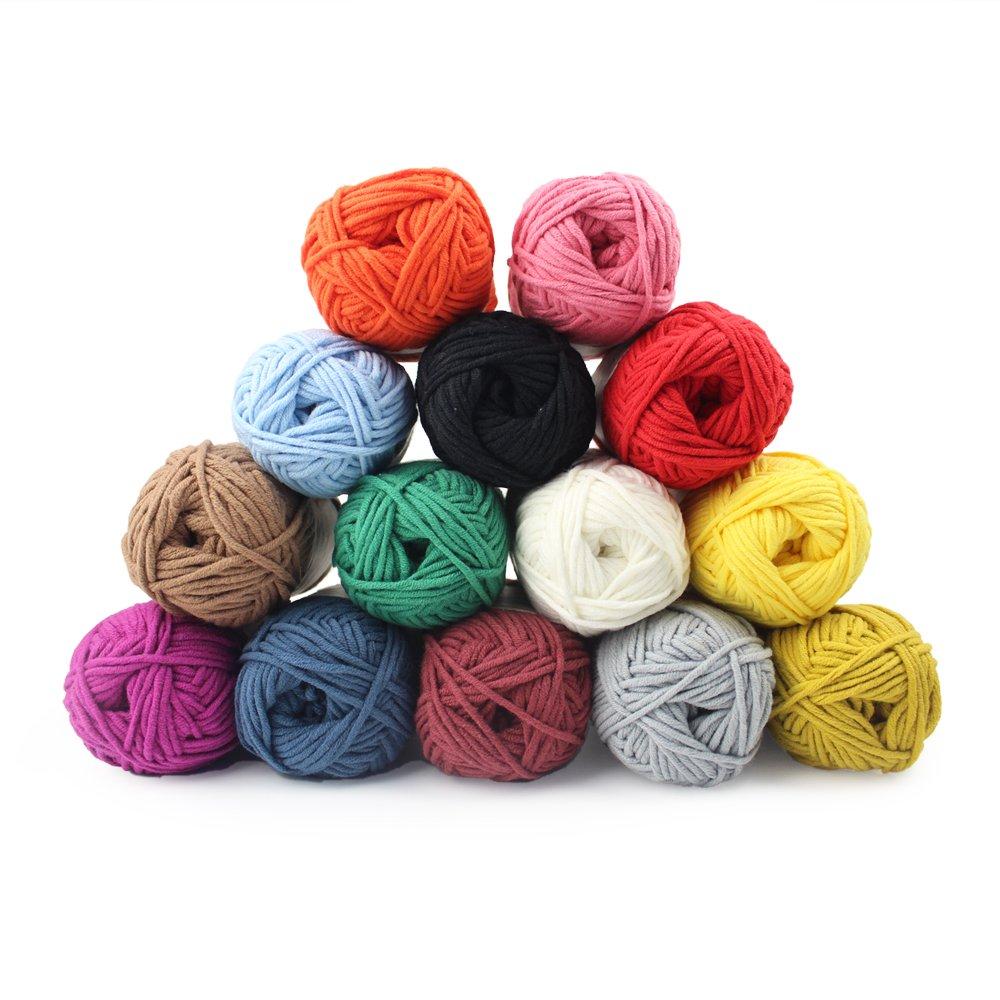 Knitting Yarn Bonbons 60 Pieces Multi Colour Yarn Bag Included Yarn Crochet