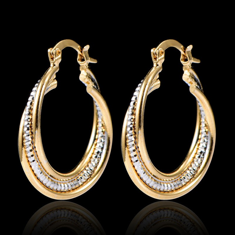Athenaa Arabic Gold Earring Designs For Women Saudi Gold Jewelry