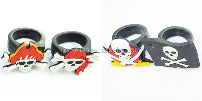 Fashion New Style Kids Cute Cartoon Animal Soft PVC Finger Rings