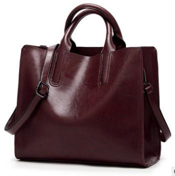 Женские сумки из натуральной кожи, женские сумки на плечо, модные женские сумки из вощеной кожи, Большая вместительная Повседневная сумка, ...(Китай)