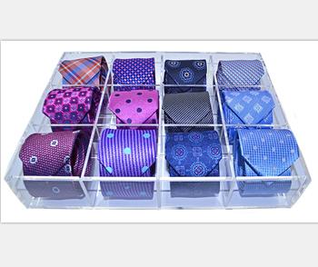 Charmant Acrylic Tie Storage Box Acrylic Tie Organizer