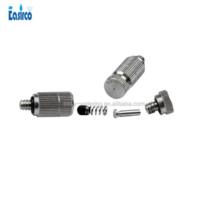 Mist cooling products : Anti drip Fog Mist Nozzle / Ceramic insert High pressure mist cooling Brass nozzle