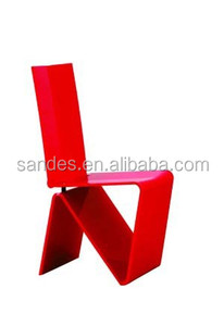 Red Fine Workmanship Elegant Acrylic Wedding Chair