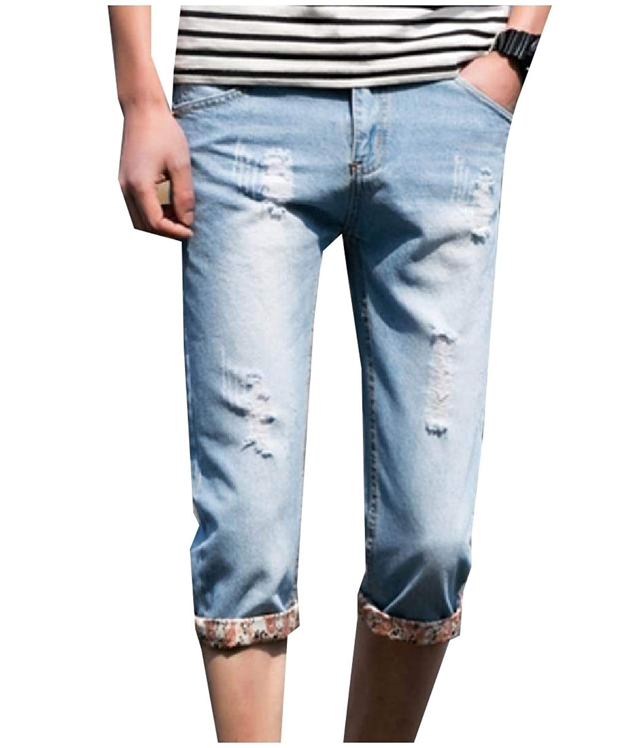 FreelyMen Mid Waist Straight Bodycon Oversize Chino Pants Trousers