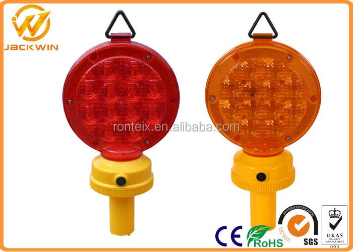 Single Side Lens 12 Led Battery Powered Traffic Warning Lights For ...