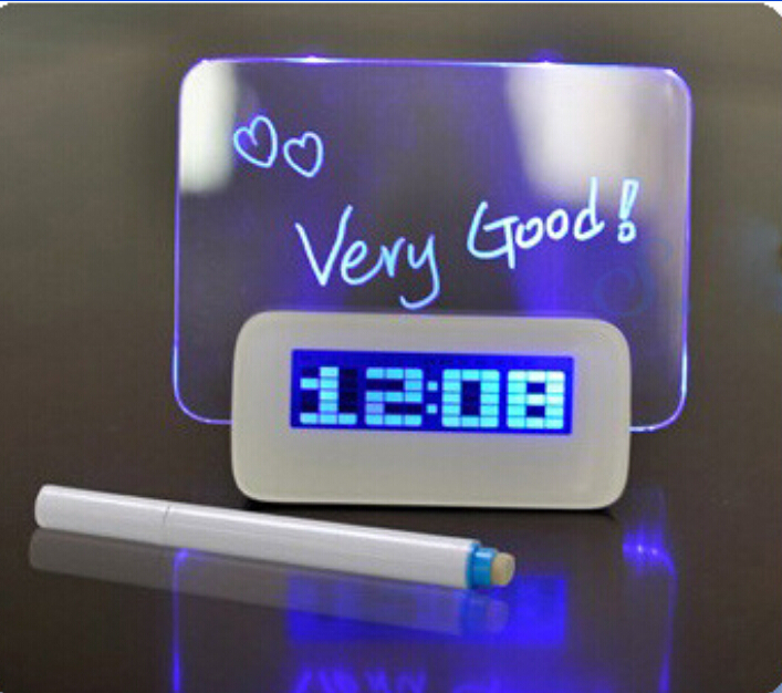 Message Board Alarm Clock with LED