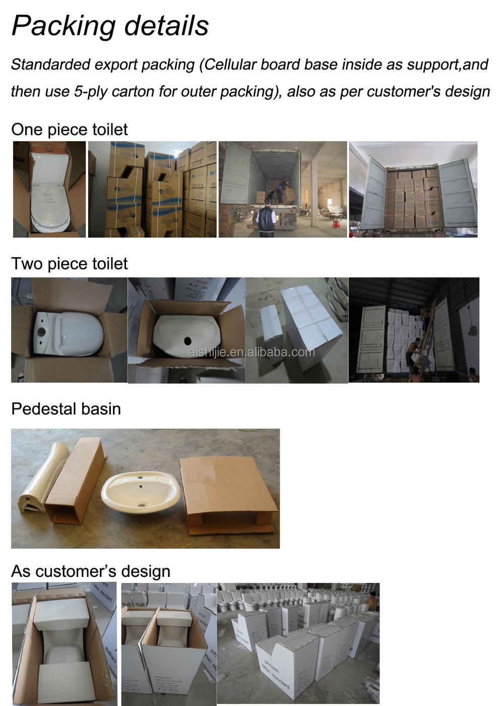 A China Manufacturer Sanitary Ware Water Closet Washdown Flush - Toilet bowl tank parts