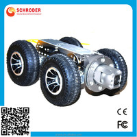 Waterproof Pan and Tilt duct pipe inspection robot with HD DVR control unit