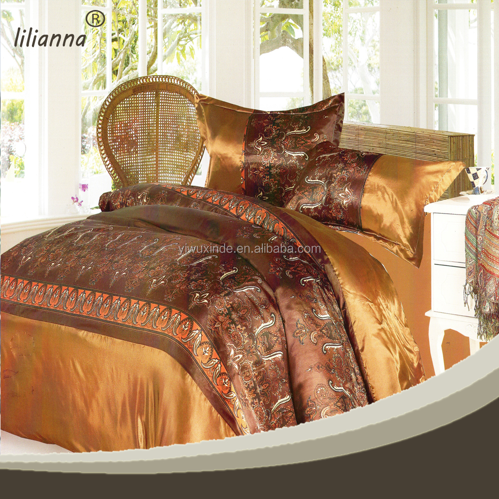 cheap high quality bedspreads gold color luxury bedspreads