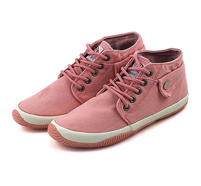 Women Sneakers Brand 2015 Lace-up High-top Canvas Sneakers women Solid Color Casual Canvas Sneakers with Platform Women