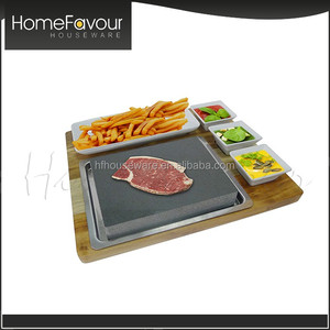 Steak On Stones Cooking Steaks Hot Rock Grill Plate,Lava Stone Steak cooking stone Set